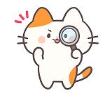 とら猫のイラスト(虫眼鏡)