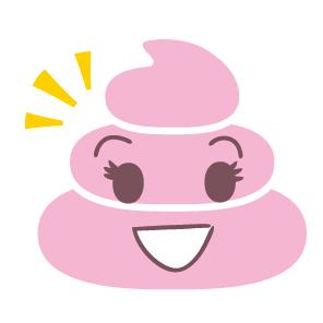 ピンクのうんち