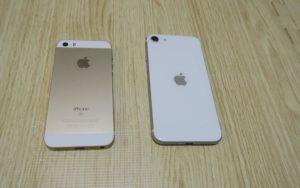 iPhoneSE ゴールドとiPhoneSE2 ホワイト