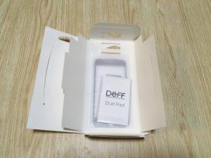 Deff 3D ブルーライトカット 強化ガラス保護フィルム開封
