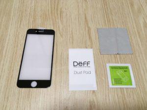 Deff 3D ブルーライトカット 強化ガラス保護フィルム 中身