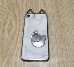 iPhoneSE2 猫耳 スマホリング